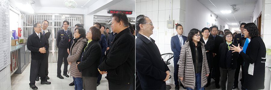 Member of the Control Yuan visited Taipei Prison to investigate the treatment of disabled inmates on 11th of March 2019.